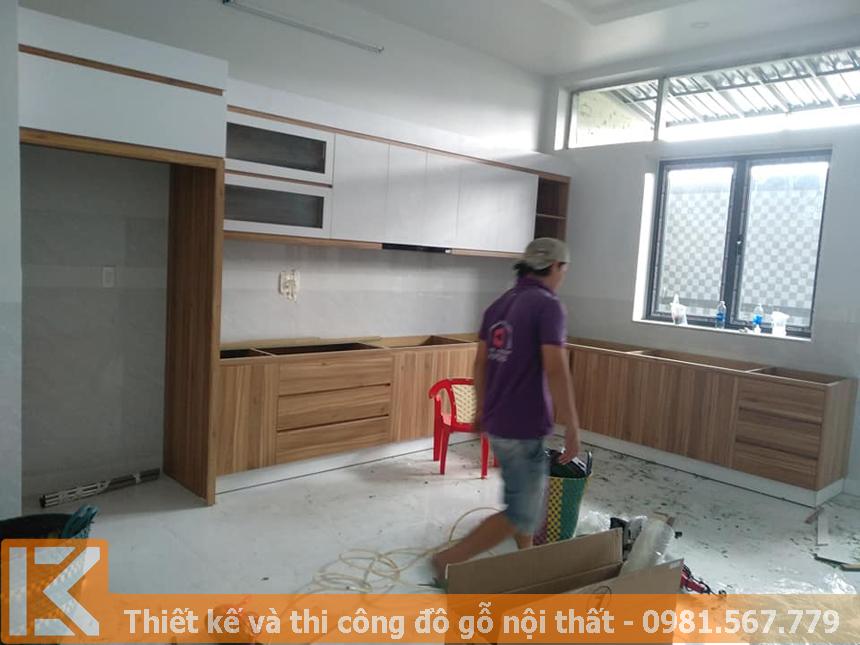 Xưởng mộc đóng tủ bếp MDF giá rẻ tại TPHCM MS0034