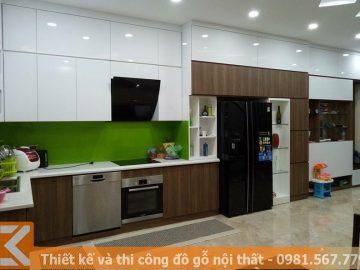 Thiết kế và hoàn thiện tủ bếp giá cả hợp lí tại Sài Gòn MS0027