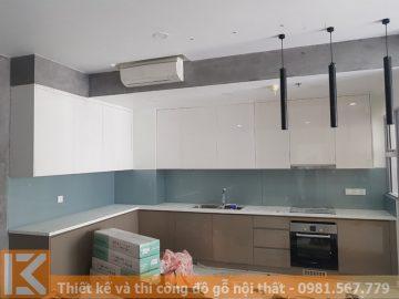 Tủ bếp MDF giá rẻ tại TPHCM theo yêu cầu MS0032