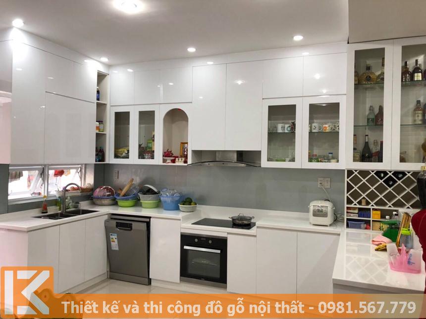 Mẫu tủ bếp ở Quận Thủ Đức đóng theo yêu cầu MS0046