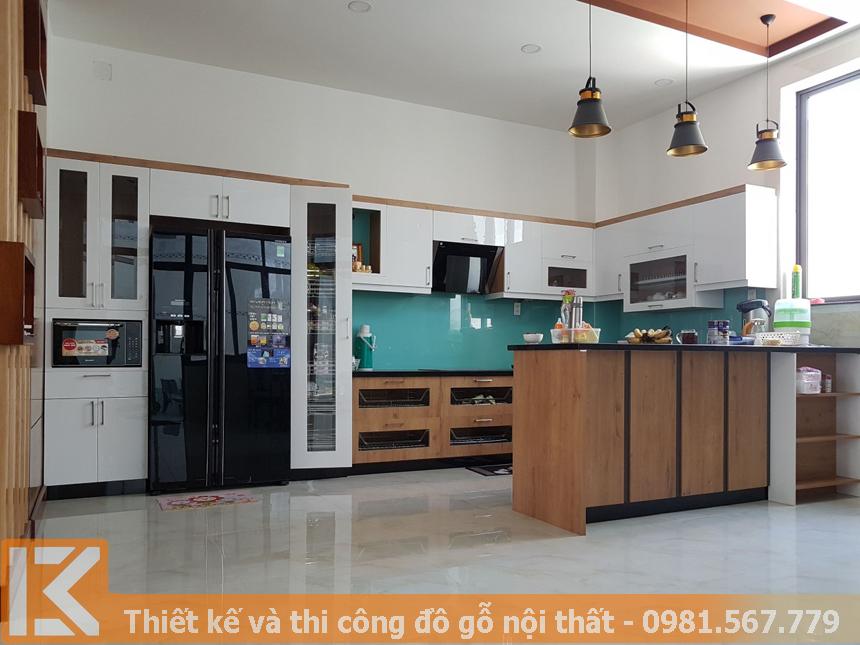 Nội thất tủ bếp an cường cho biệt thự Thảo Điền Quận 2 MS0044