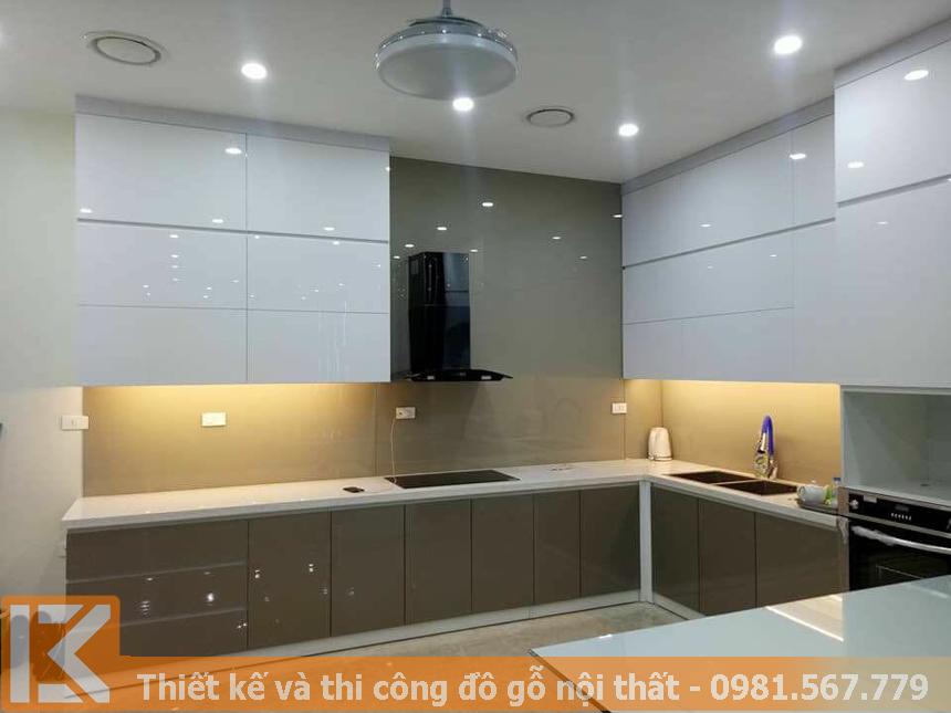 Nơi đóng tủ bếp Acrylic giá tốt, chất lượng tại TPHCM MS0031