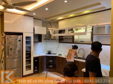 Địa chỉ đóng tủ bếp chuyên nghiệp, giá rẻ ở Quận 9 MS0018