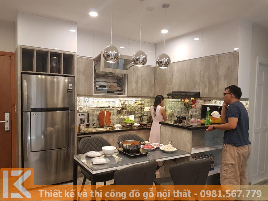 Tủ bếp gỗ công nghiệp laminate an cường ở Đồng Nai MS0043