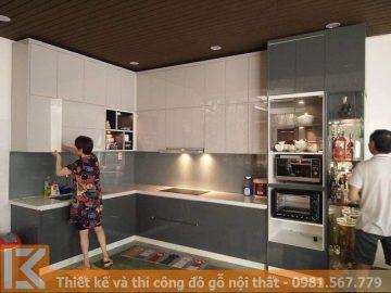 Công ty tủ bếp gỗ đẹp, thi công theo yêu cầu ở HCM MS0025