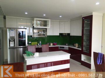 Thi công tủ bếp gỗ trọn gói giá tốt nhất ở quận 5 MS0023