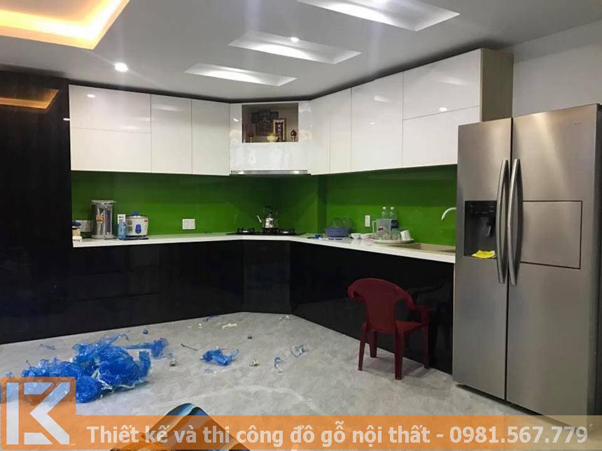 Địa chỉ đóng tủ bếp nhựa picomat phủ acrylic đẹp,giá rẻ MS0040