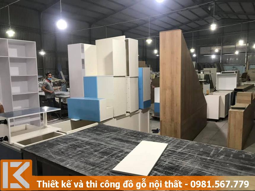 xưởng đóng nội thất gỗ công nghiệp