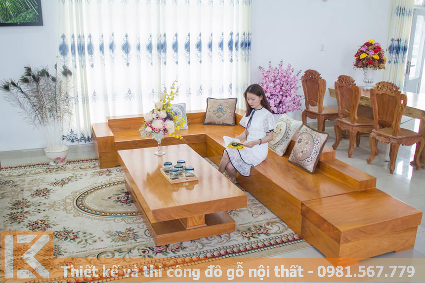 Đóng đồ gỗ nội thất bằng gỗ gõ đỏ