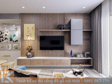 Mẫu thiết kế kệ tivi gỗ công nghiệp cao cấp KT0004