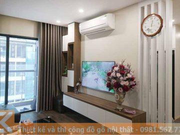 Thiết kế kệ tivi phòng khách hiện đại cho căn hộ KT0015