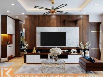 Mẫu kệ tivi phòng khách chung cư  hiện đại KT0016