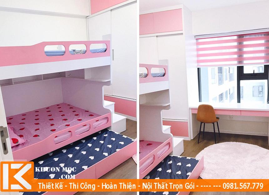 phòng ngủ chung cư cho bé gái