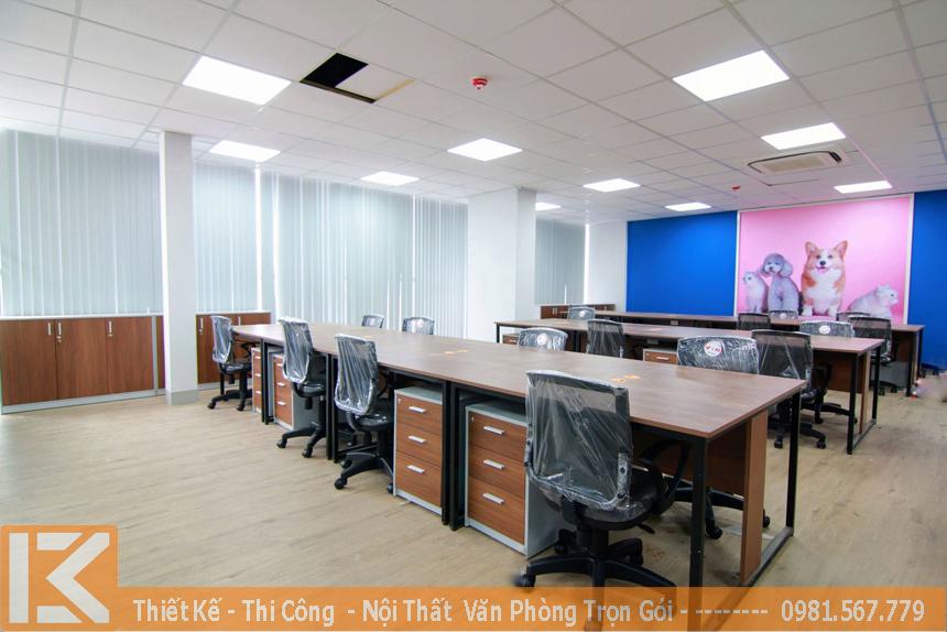 Xưởng đóng đồ gỗ nội thất văn phòng theo yêu cầu đẹp, giá rẻ