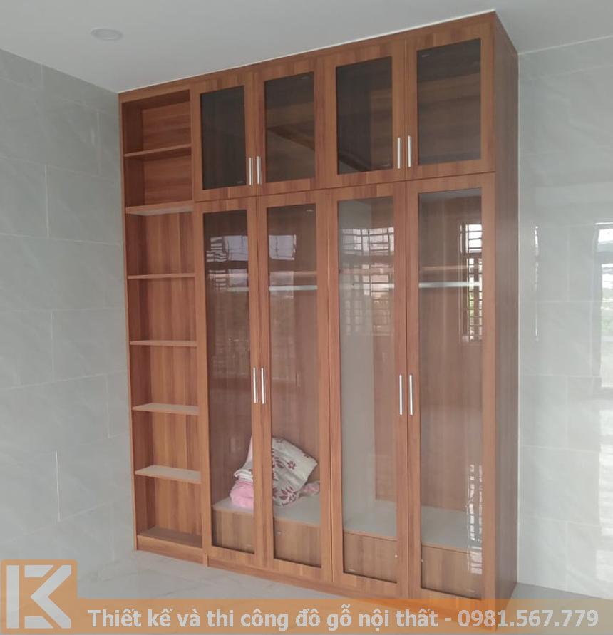 Thiết kế mẫu tủ quần áo gỗ công nghiệp KM002
