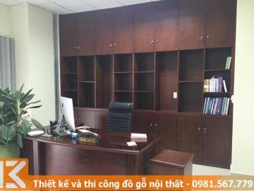 Đóng bàn giám đốc, tủ hồ sơ công ty tại quận 2 #KM245468