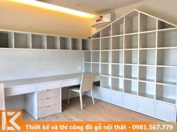 Đóng bàn làm việc đẹp tại nhà ở quận 2 Tphcm KM245453