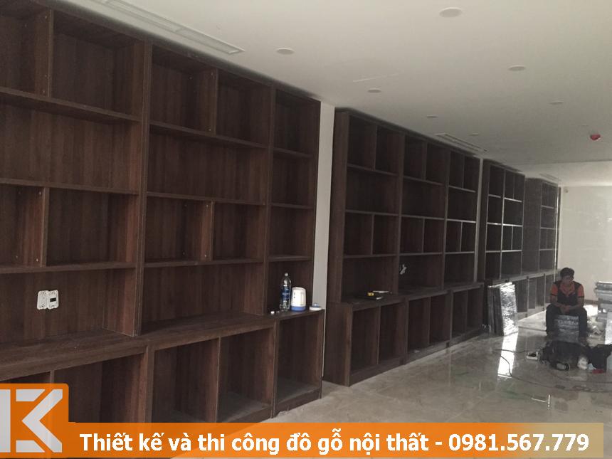 đóng tủ, kệ đựng hồ sơ công ty BĐS quận 10 #KM24115