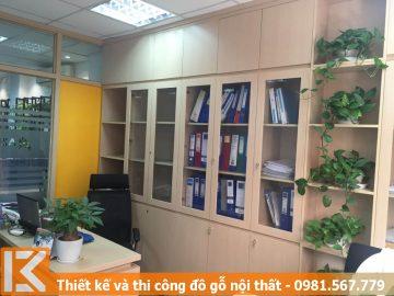 Mẫu thiết kế tủ đựng hồ sơ văn phòng làm việc tại Bình Thạnh #KM24455