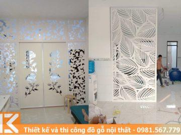 Mẫu thiết kế vách ngăn cửa lùa hoa văn ở quận Bình Thạnh #KM24546013