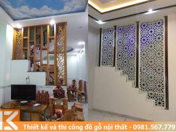 Mẫu thiết kế vách ngăn tam cấp cầu thang quận Gò Vấp #KM24546014