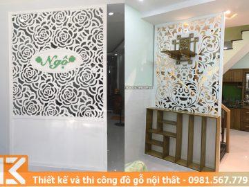 Mẫu thiết kế vách ngăn trang trí phòng khách ở quận 3 #KM24546012