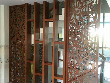 Thiết kế vách ngăn lam gỗ trang trí cầu thang ở Quận 9 #KM2454696